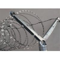 China 2-1/2''O.D Post 1-5/8'' Barbed Wire Extension Arm For Chain Link Fence Rail Top Use on sale