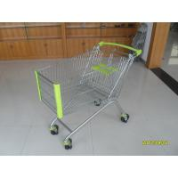Wholesale 150L Supermarket Shopping Trolley Carts With Anti UV Plastic Parts and 5 Inch Casters from china suppliers