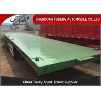 Wholesale 40ft 20ft 3 Axles Flatbed Container Trailer , Container Semi Trailer 60-70Tons from china suppliers