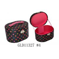 Wholesale Zippered Small Round Travel Jewelry Case , Round Jewellery Box With Handle from china suppliers