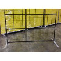 """Wholesale 6ft x 10ft canada standard temporary fence 2"""" x 4""""X10.5GA aperture pipe 1""""x1'x1.7GA thick brace 3/4""""x19GA POWDER coated from china suppliers"""