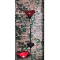 Wholesale Solar Munaro Hand Blown Glass Bird Iron Stake from china suppliers