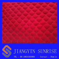 Wholesale Tear Resistance Softness Auto Upholstery Leather Car Seat Cover in Red from china suppliers