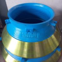 Metso Series cone crusher spare parts high manganese steel casting cone liner bowl liner concave mantle