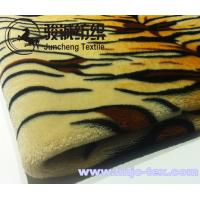Wholesale Wholesale 100% Polyester Tiger Stripes Flannel Blanket Fabric Coral Fleece for bed use from china suppliers