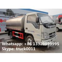 Wholesale factory direct sale forland LHD/RHD 3m3 food grade milk tank truck, best price forland 5,000L milk tank truck for sale from china suppliers