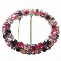 Wholesale Rhinestone Metal Brooch, Durable, Eco-friendly, Available in Various Colors from china suppliers