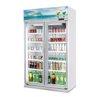 Wholesale Supermarket Glass Door Soft Drink Display Refrigerator with Ce from china suppliers