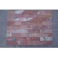 Quality Red natural culture stone/inartificial red culture stone for wall cladding/stone tile for sale