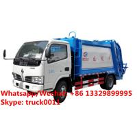 Wholesale HOT SALE!4tons rear loader garbage truck for sale, Factory sale good price Dongfeng 4*2 LHD 5m3 garbage compactor truck from china suppliers