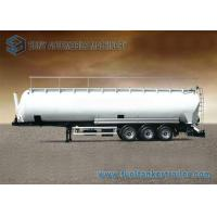 Wholesale 90m3 3 Axle Aluminum Flour Dry Bulk Tank Trailer With Hydraulic Tipping Tanker from china suppliers