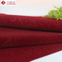 Wholesale Printed Spunlace Velvet Flock Fabric Dark Red With Flower Pattern from china suppliers