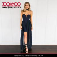 Wholesale Strapless Heart Wrap Navy Sexy Maxi Evening Dress New Dress Designs from china suppliers