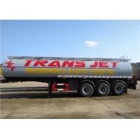 Buy cheap Stainless Steel Fuel Tanker Semi Trailer  Tri-Axle 33000L 33M3 Oil Transport Tank Semitrailer from wholesalers