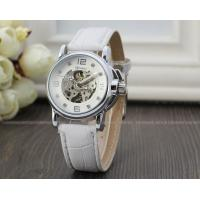 Wholesale White Winner Fashion Ladies Automatic Watch Skeleton , Three Hands Gift Watch from china suppliers