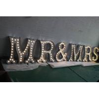 Wholesale Metal Alphabet LED Lighted Sign Letters , Night Wedding Name Letter Lights from china suppliers