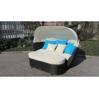 Wholesale Roofed Outdoor Rattan Daybed , Wicker Conservatory Furniture from china suppliers