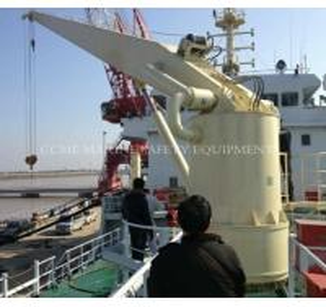 China Hydraulic Fixed Boom hoist Marine vessel crane on sale