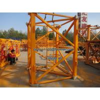Wholesale QTZ100 Tower Crane Spare Parts Mast Section 2.5m Height with Retaining Ring from china suppliers