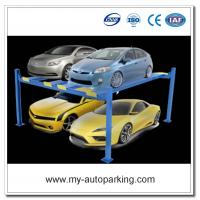 Wholesale On Sale! 4 Post Car Lifts 2 Level Parking Lift Double Deck Underground Car Parking Lift from china suppliers