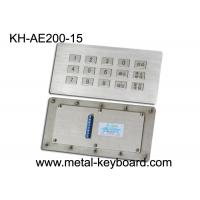 Wholesale Vandal proof kiosk Industrial Metal Keyboard , 15 Keys Stainless Steel Panel industrial keypad from china suppliers