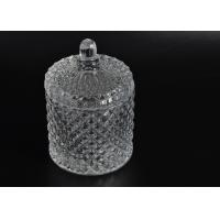 Wholesale Elegant White Glass Dome Candle Holder PersonalisedGlass Jars With Lid from china suppliers