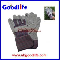 Wholesale Rubberized palm cow leather glove with CE for consruction use from china suppliers