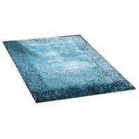 Wholesale Hand Tufted Malai Dori Style Blue Green Soft Polyester Shaggy Pile Rug from china suppliers