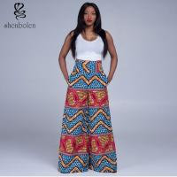 Wholesale High Waist Womens African Print Pants Designs Wax Printed Multi Colored from china suppliers