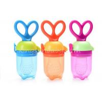 Wholesale Baby Food Bottle Feeder  	Silicone Baby Teether Fresh Weaning Food Soother Container from china suppliers