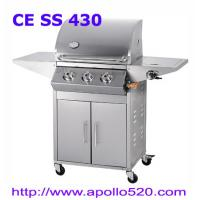 Wholesale Stainless Steel Gas BBQ Grills on cart from china suppliers