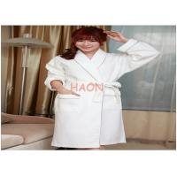 Wholesale Female White Velvet Bathrobes Spa Robe Night-robe Embroidery logo from china suppliers