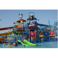 Wholesale Pirate Style Water Playground Equipments With fiberglass water slide and water toys from china suppliers