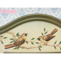 Quality Decorative bird bathroom wooden wall Mirror for sale