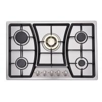 Wholesale Built In Auto Ignition Stainless Steel Gas Hob / Gas Cooker With 5 Burners from china suppliers