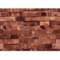 Quality Grey / Brick Red PVC Foam 3D Brick Effect Wallpaper Home Decoration Wallpaper for sale