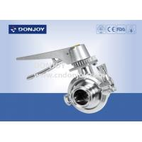 Wholesale Pneumatic SS316L 2 WAY Sanitary Ball Valve with Multi Stainless Steel Handle from china suppliers