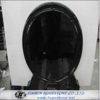 Wholesale Mirror Shaped Polished Black Granite Tombstone, Mongolian Black Granite Monuments from china suppliers
