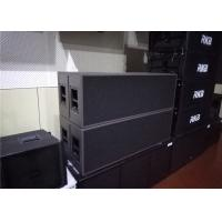 Quality Black / Brown Outdoor Sound System MAX SPL 134dB 3 Way Dual 15 Inch Line Array Speakers for sale