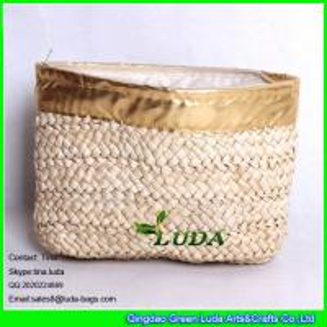 Wholesale LUDA new design elegant women corn hust straw clutch bag fashion handbag from china suppliers