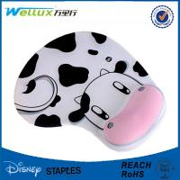 Wholesale Milk Cow Comfortable Wrist Rest Mouse Pad Cute Memory Foam Mouse Mat 22mm Thick from china suppliers