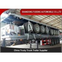 Wholesale 40 Foot High Bed Semi Trailer With 4 Axles For Carry Container , Cement Bags With Warranty from china suppliers