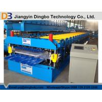 Wholesale Hydraulic Uncoiler Machine Roof Panel Roll Forming Machine with PLC Vector Inverter Control System from china suppliers
