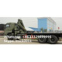 Wholesale DongFeng 6*4 folding boom mounted truck folding boom truck crane, factory sale dongfeng 210hp 12tons truck with crane from china suppliers