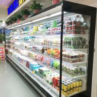 China 3.75M Vertical Open Display Refrigerated Merchandiser With Auto Defrosting on sale