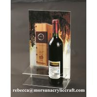 Wholesale Plexiglass Products Clear Acrylic Wine Holder With Poster Holder from china suppliers