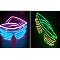 Wholesale Sound Activated Light Up Double EL Wire Sunglasses / Illuminati Glasses Flashing from china suppliers
