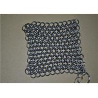 Wholesale 7*7 inch Stainless Steel Wire Mesh Scrubber / Chainmail Cast Iron Cleaner from china suppliers