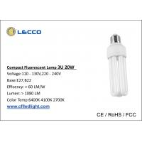 Wholesale High Brightness Compact Fluorescent Lamps Cfl T4 20W Bulbs 3U Tricolor 8000h Lifetime from china suppliers