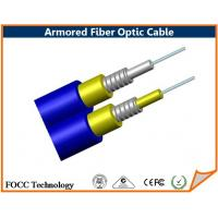 Wholesale Blue Duplex Loose Tube Outdoor Armored 8 Core Fiber Optic Cable Single Mode from china suppliers